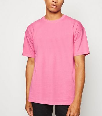 Bright Pink Oversized Cotton T-Shirt