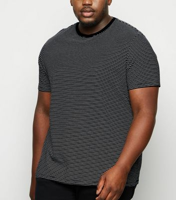 Plus Size Black Stripe Short Sleeve T-Shirt
