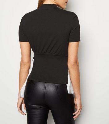 Cameo Rose Black 2 in 1 Shirt Top New Look