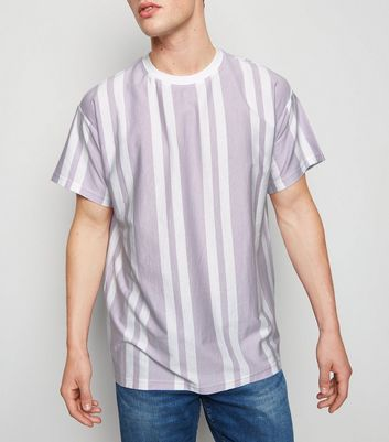 Lilac Stripe Short Sleeve T-Shirt
