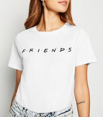 White Cotton Friends Logo T-Shirt
