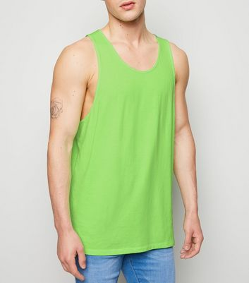 Green Neon Longline Cotton Vest
