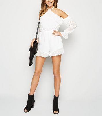 Parisian Combi short blanche en tulle à pois et épaules dénudées Ajouter à la Wishlist Supprimer de la Wishlist
