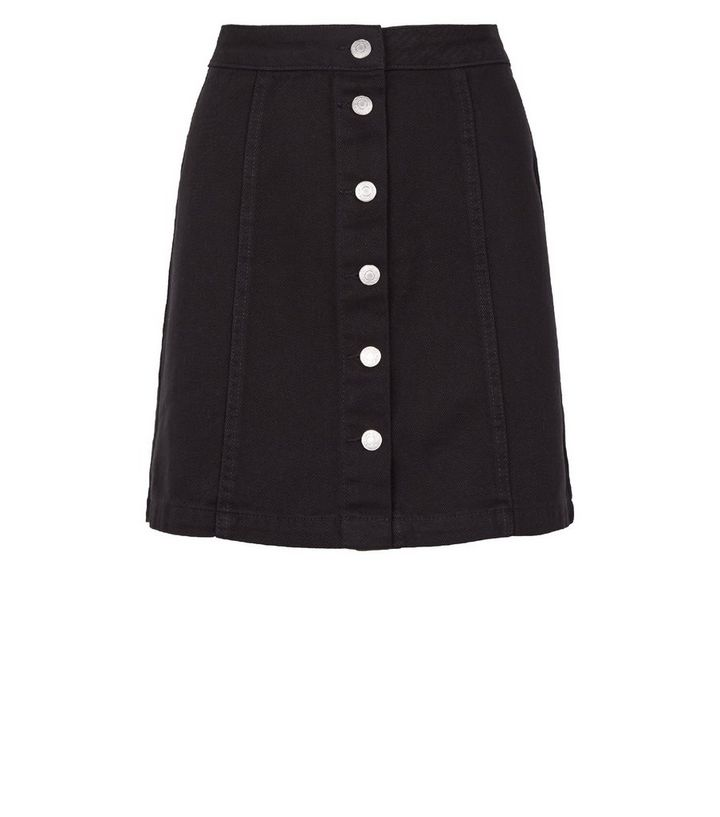 39277e03f9fa ... Black Button Up A-Line Denim Skirt. ×. ×. ×. Shop the look