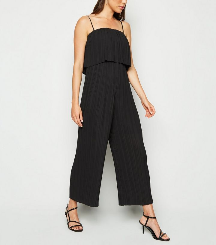 san francisco outstanding features top-rated cheap Black Tiered Pleated Jumpsuit Add to Saved Items Remove from Saved Items