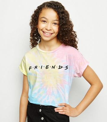 Girls Multicoloured Tie Dye Friends Logo T-Shirt