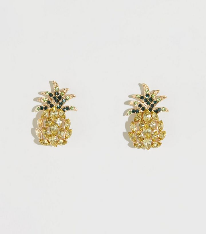 Yellow Gem Pinele Stud Earrings Add To Saved Items Remove From