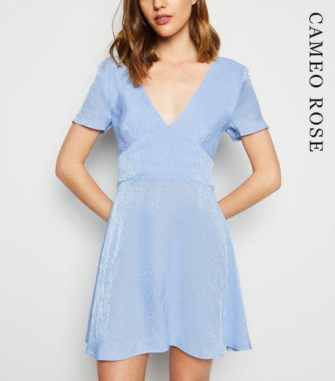 413d9ceb661 ... Cameo Rose Blue Shimmer Mini Dress ...