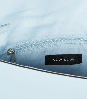 shop for Pale Blue Suedette Chain Strap Clutch Bag New Look Vegan at Shopo