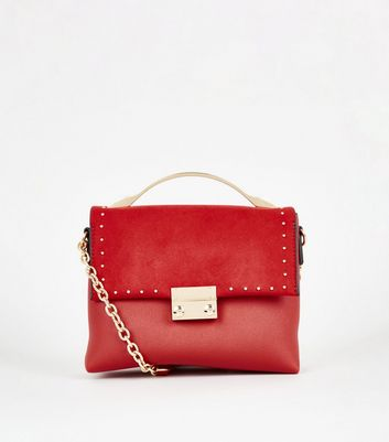 Red Leather-Look Mini Shoulder Bag