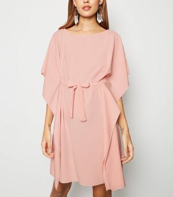 Urban Bliss Pale Pink Belted T-Shirt Dress