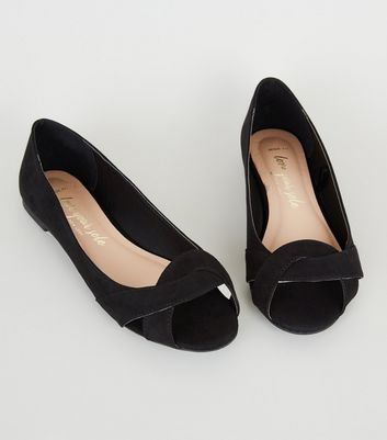 new look open toe shoes