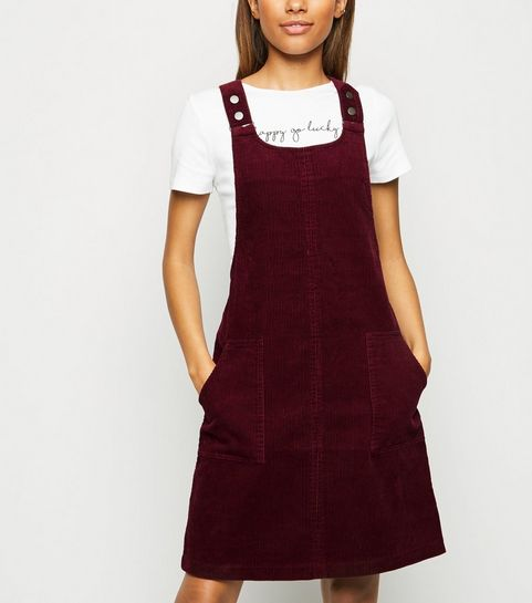 7c59edc6e5 Burgundy Corduroy Pinafore Dress · Burgundy Corduroy Pinafore Dress ...
