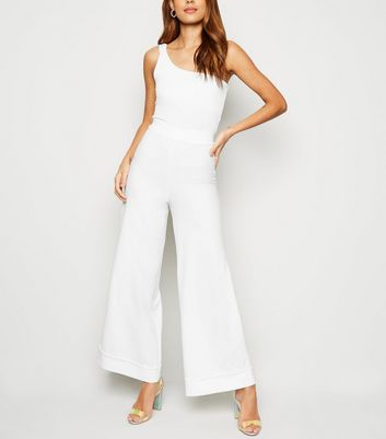 Innocence White Wide Leg Trousers