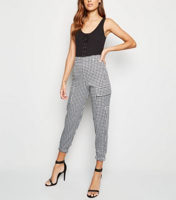 Innocence Black Gingham Utility Trousers