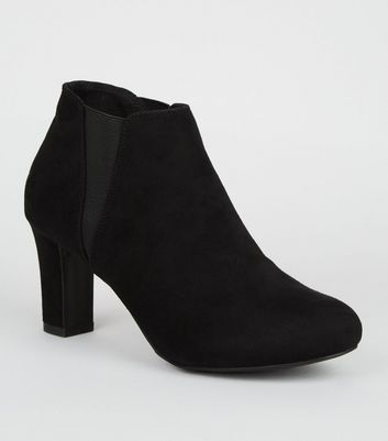 Girls Black Suedette Heeled Chelsea Boots Add to Saved Items Remove from  Saved Items