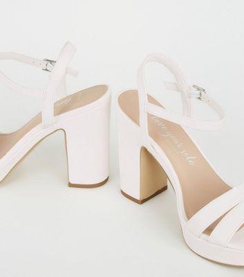 wide fit platform block heels