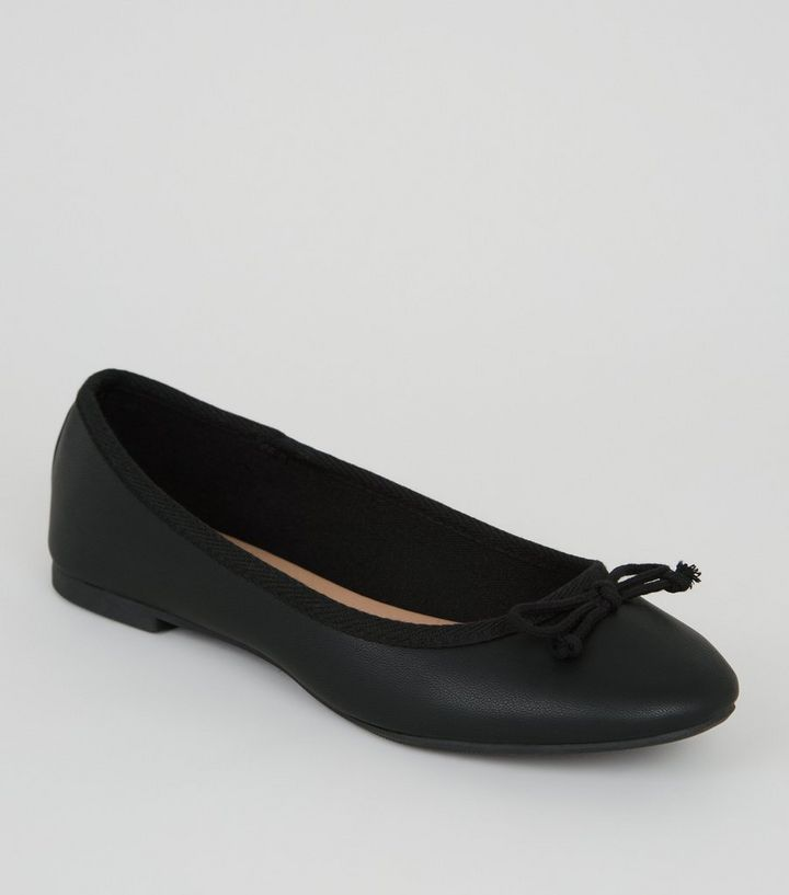 312c2a354b634 Girls Black Leather-Look Ballet Pumps Add to Saved Items Remove from Saved  Items