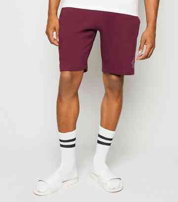 Burgundy Jersey TW9 Slogan Shorts