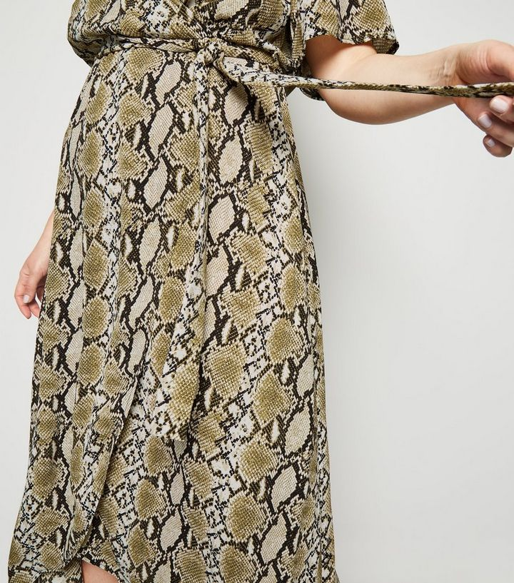 2e009afc6bc ... Curves Off White Snake Print Dip Hem Dress. ×. ×. ×. Shop the look