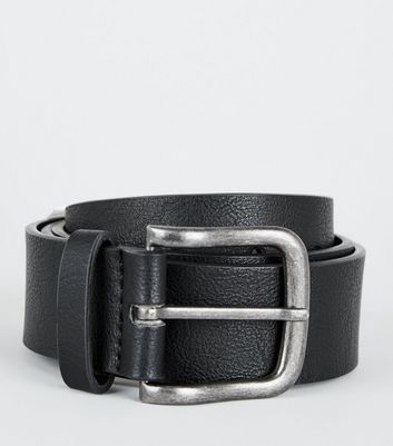 Black Leather-Look Jeans Belt