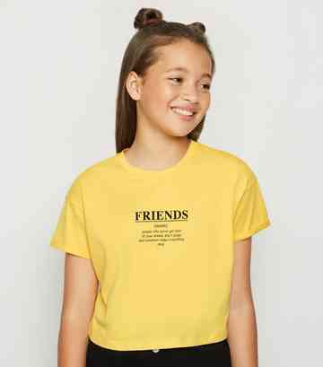 e2ace4a25f6a0c Girls' Slogan Tops | Girls' Logo & Print T-Shirts | New Look