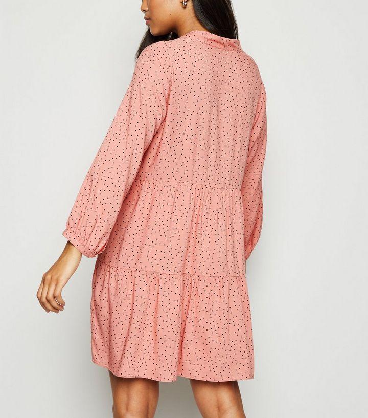 660e74cf415d ... Petite Pink Spot Tie Neck Smock Dress. ×. ×. ×. Shop the look