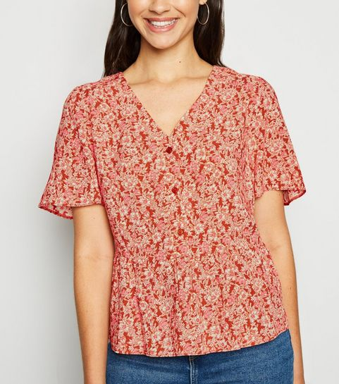 70784efb969975 Women's Blouses   Floral, Satin & Chiffon Blouses   New Look