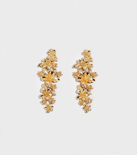 e2c4968fa Gold Floral Drop Earrings · Gold Floral Drop Earrings ...
