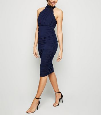 AX Paris Navy Bodycon Midi Dress