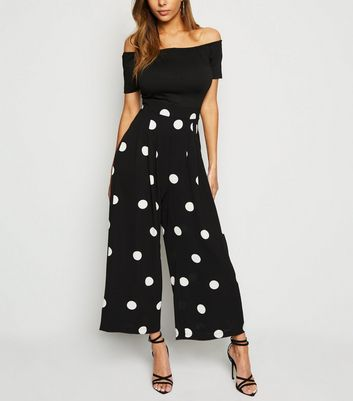 AX Paris Black Polka Dot 2 in 1 Jumpsuit