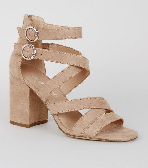 a69cc33d266 Women's Heeled Sandals   Block Heel & Strappy Sandals   New Look