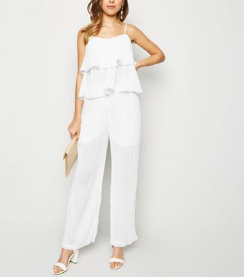 Cameo Rose White Pleated Trousers