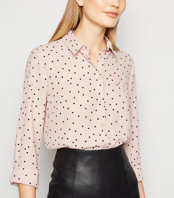 Pink Spot Long Sleeve Shirt