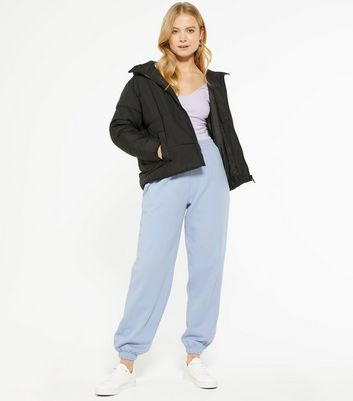 Pale Blue Cuffed Joggers New Look