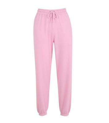Pink Cuffed Joggers New Look