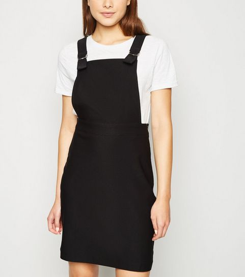 65ff795a0c Black Mini Pinafore Dress · Black Mini Pinafore Dress ...