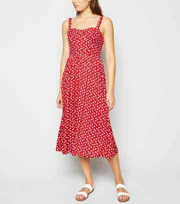 a92a1e298e42 Red Dresses | Long Red, Maroon & Burgundy Dresses | New Look
