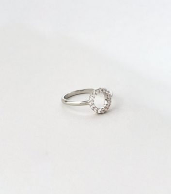 Silver Cubic Zirconia Open Circle Ring