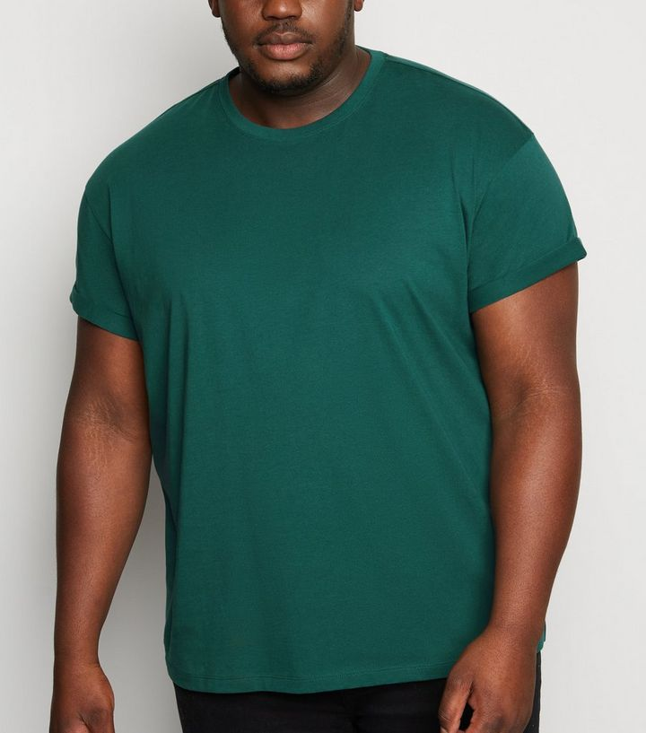 prezzo incredibile sulle immagini di piedi di immagini dettagliate Plus Size Dark Green Roll Sleeve T-Shirt Add to Saved Items Remove from  Saved Items