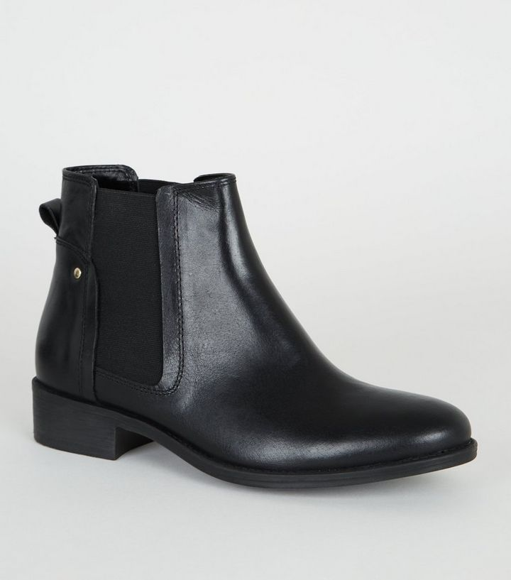 run shoes a great variety of models top-rated professional Black Leather Flat Chelsea Boots Add to Saved Items Remove from Saved Items