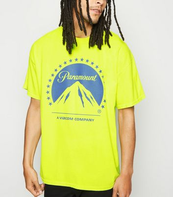 Yellow Washed Neon Paramount Logo T-Shirt