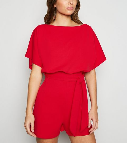 0d6dfa0ea7fc Red Belted Batwing Playsuit · Red Belted Batwing Playsuit ...