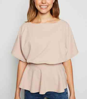 Stone Belted Batwing Top
