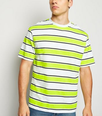 Green Neon Stripe T-Shirt