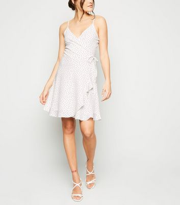 Tall White Spot Ruffle Dress