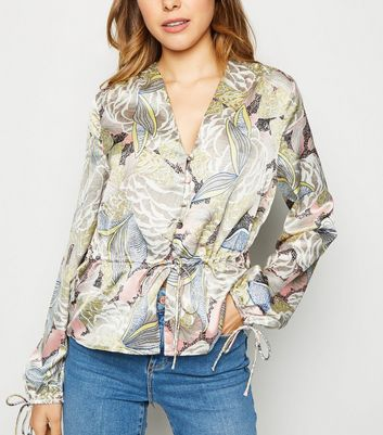 Urban Bliss Multicoloured Floral Peplum Top