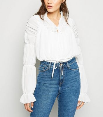 Urban Bliss White Ruffle Blouse
