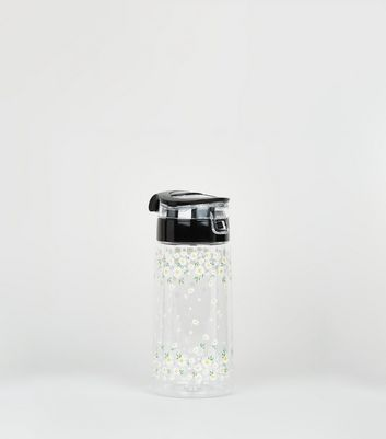 Multicoloured Daisy Print Water Bottle