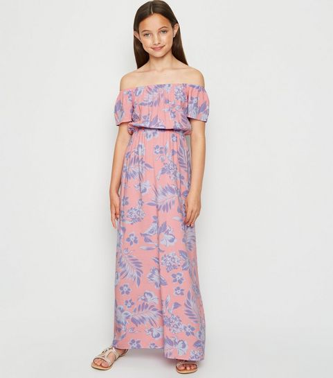 43a5d69f0dcd1e Girl's Bardot Dresses | Off The Shoulder Dresses | New Look